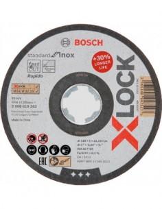 Disco x-lock stand.inox 115x1mm lata 10 de bosch construccion /