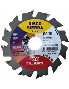 Disco tronzador widia 115.21.05 115x22,2 de mussol