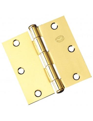 Bisagra 1010-3,5x3,5 hierro latonado par de amig caja de 5