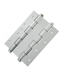 Bisagra doble acción 3035-180x133,5x4 acabado plata de amig
