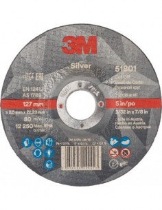 Disco corte silver t42 51801 125x2,5 de 3m caja de 50 unidades