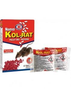 Raticida pellet kol-rat 150gr de impex caja de 36 unidades