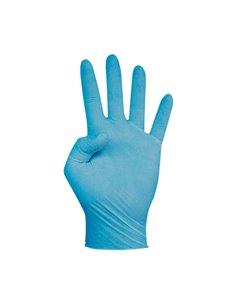 Guante touch talla s desechable nitrilo azul c100 de cuatrogasa