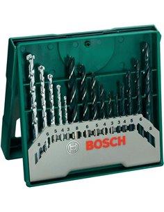 Set 15 brocas mixtas mini-x-line de bosch bricolaje