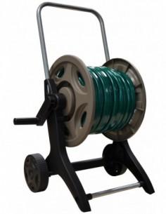 Carro portamanguera metal/plastico con 25m ø15+racores y lanza