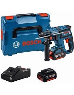 Martillo gbh18vec 2b 5ah+gal1880cv+l-box de bosch construccion / industria