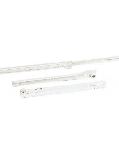 Guías cajones 24-600 blanco epoxi de amig caja de 10 unidades