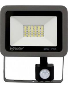 Proyector led gris 20w sensor 6500k ip65 de marca