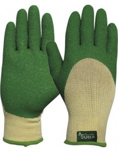 Guante poliester/latex ru.h254g talla 08 verde de juba caja de