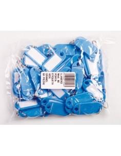 Llavero portaetiquetas 80 azul oscuro de amig caja de 50