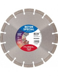 Disco diamante beton special wbs230x22,2 de mussol