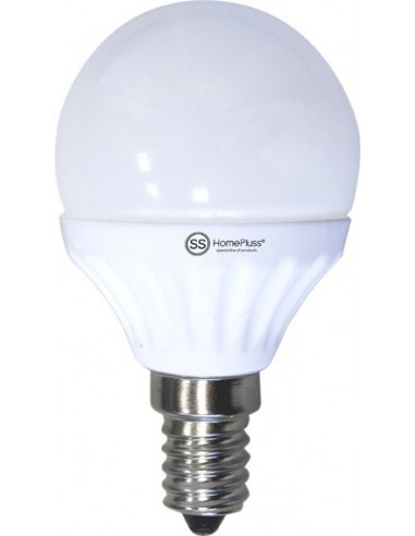 Lampara esferica led e14 7,5w 4200k de marca caja de 12 unidades