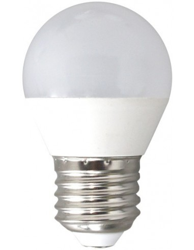 Lampara esferica led e27 6w 6000k de marca caja de 12 unidades