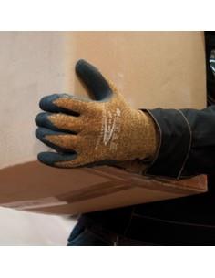 Guante latex flexicotton forro algodón t-10 de cofra caja de 12