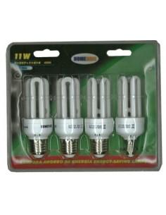 Lampara ahorro t3 3u gbm5318-11w pack-4 de total socket caja de