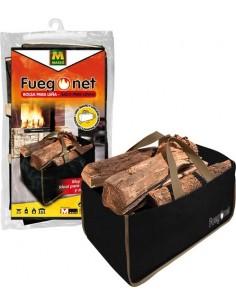 Bolsa para leña 231308 32x56x32 de fuego net