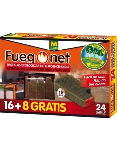 Pastillas autoencendido 231122-24pz de fuego net caja de 24