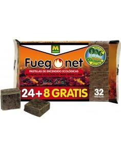 Pastillas ecológicas 231094-32pz de fuego net caja de 24