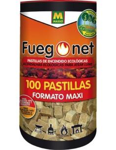 Pastillas ecológicas bote 231169-100pz de fuego net caja de 6