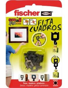 Fija cuadros negro 518168 blister de fischer caja de 20 unidades