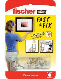 Colgador cuadros 534843 fast&fix 1pun bl de fischer caja de 10