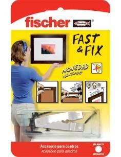 Colgador cuadros 534845 fast&fix rect.bl de fischer caja de 10