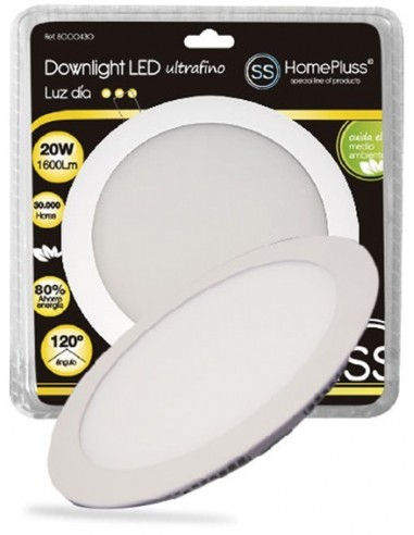 Downlight plano led 20w 4200k niquel satinado de marca
