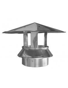 Sombrerete dp inoxidable 304 con abrazadera 30x125mm de dinak