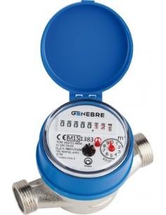 Contador agua qn-1,5f 6110c 05 con racores de genebre