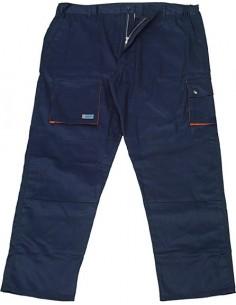 Pantalon bicolor avant t-s marino/naranja de eskubi