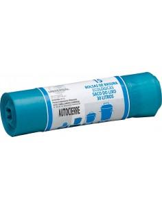 Bolsa basura autocierre 7055 30l azul 15u de universal