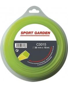 Hilo nylon cuadrado c3015/npm30015q/a 3mmx15m de sport garden