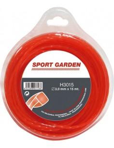 Hilo helicoidal h3315/3,3mmx15m de sport garden