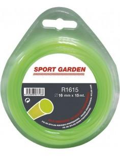 Hilo nylon redondo r1615-1,6mmx15m de sport garden