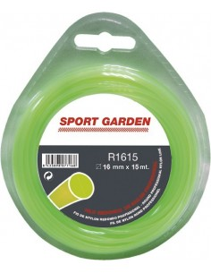 Hilo nylon redondo r2415-2,4mmx15m de sport garden