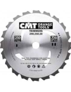 Disco desbrozadora 250x2.2/1.4x25.4 z20 de c.m.t.