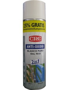 Spray antióxido blanco ral 9010 500ml de c.r.c. caja de 6
