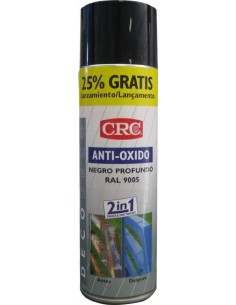 Spray antióxido negro ral 9005 500ml de c.r.c. caja de 6