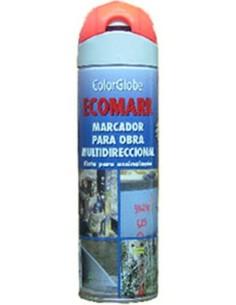 Spray marcador ecomark rojo 500ml de c.r.c. caja de 12 unidades