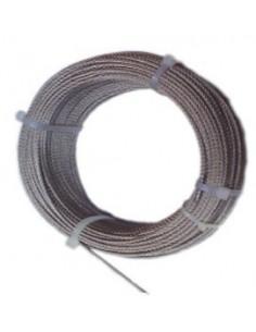 Cable acero inoxidable con d 04/7x07 + 0 de cables y eslingas
