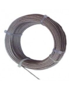 Cable acero inoxidable con d 08/7x19 + 0 de cables y eslingas