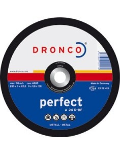 Disco dronco a24r 230x3,0x22,2 corte metal de dronco caja de 25