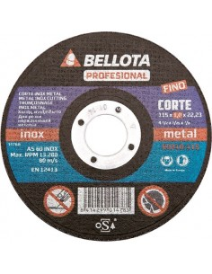 Disco corte inoxidable 50300-115x1x22 as60 de bellota caja de