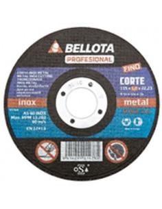 Disco corte metal profesional 50301-115x3x22 a24rbf de bellota