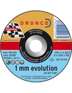 Disco dronco as60 v-115x1,0x22,2 corte metal de dronco caja de