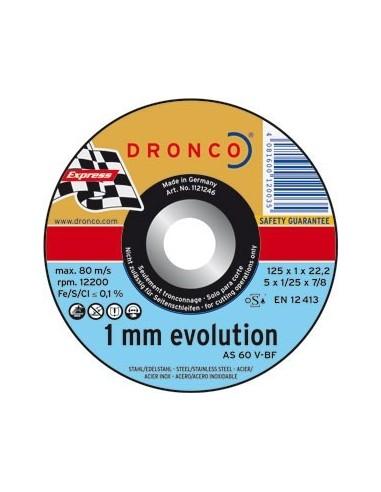 Disco dronco as60 v-125x1,0x22,2 corte metal de dronco caja de