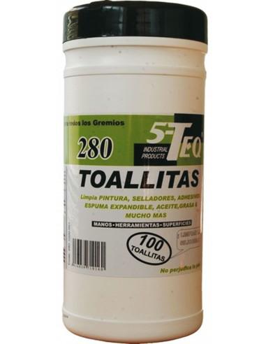Toallitas limpiadoras multiusos 280 100u de 5-teq caja de 6