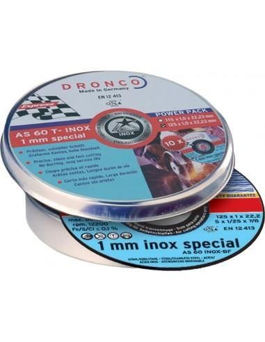 Disco dronco as60tinoxidable-bf 125x1x22,2 pack de dronco