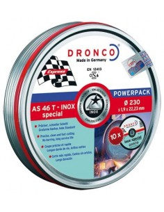 Disco dronco as46tinoxidable 230x1,90x22,2 pack de dronco
