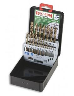 Juego brocas hss cobalto 338-1-10x0,5mm de54010 de rec-com